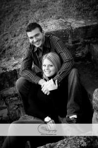 Engagement portrait at Morgans Grove Park