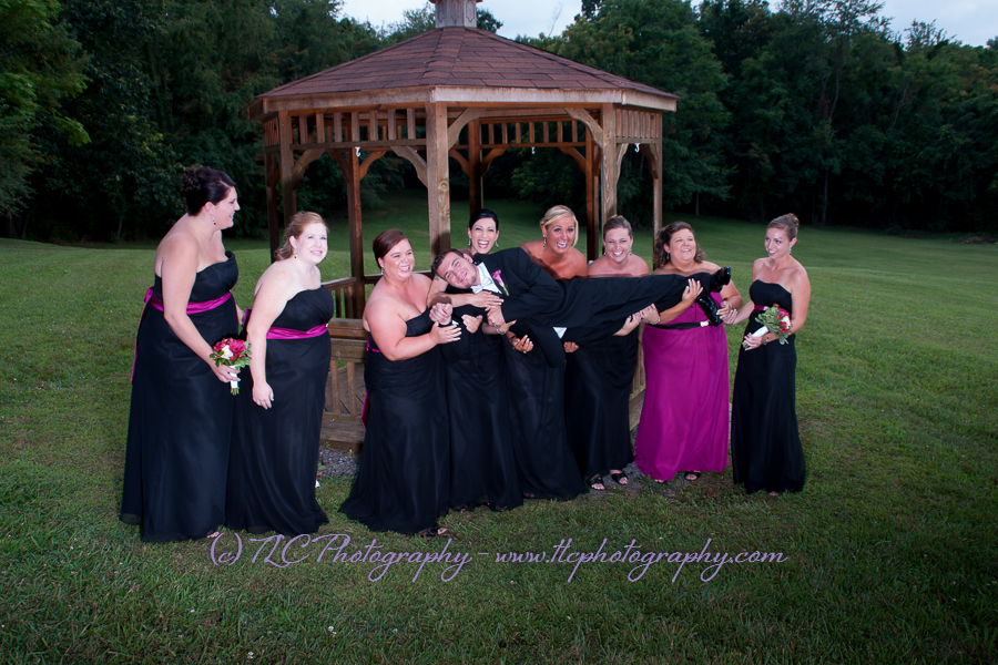 Fun wedding portraits with TLC Photography