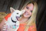 senior and her dog