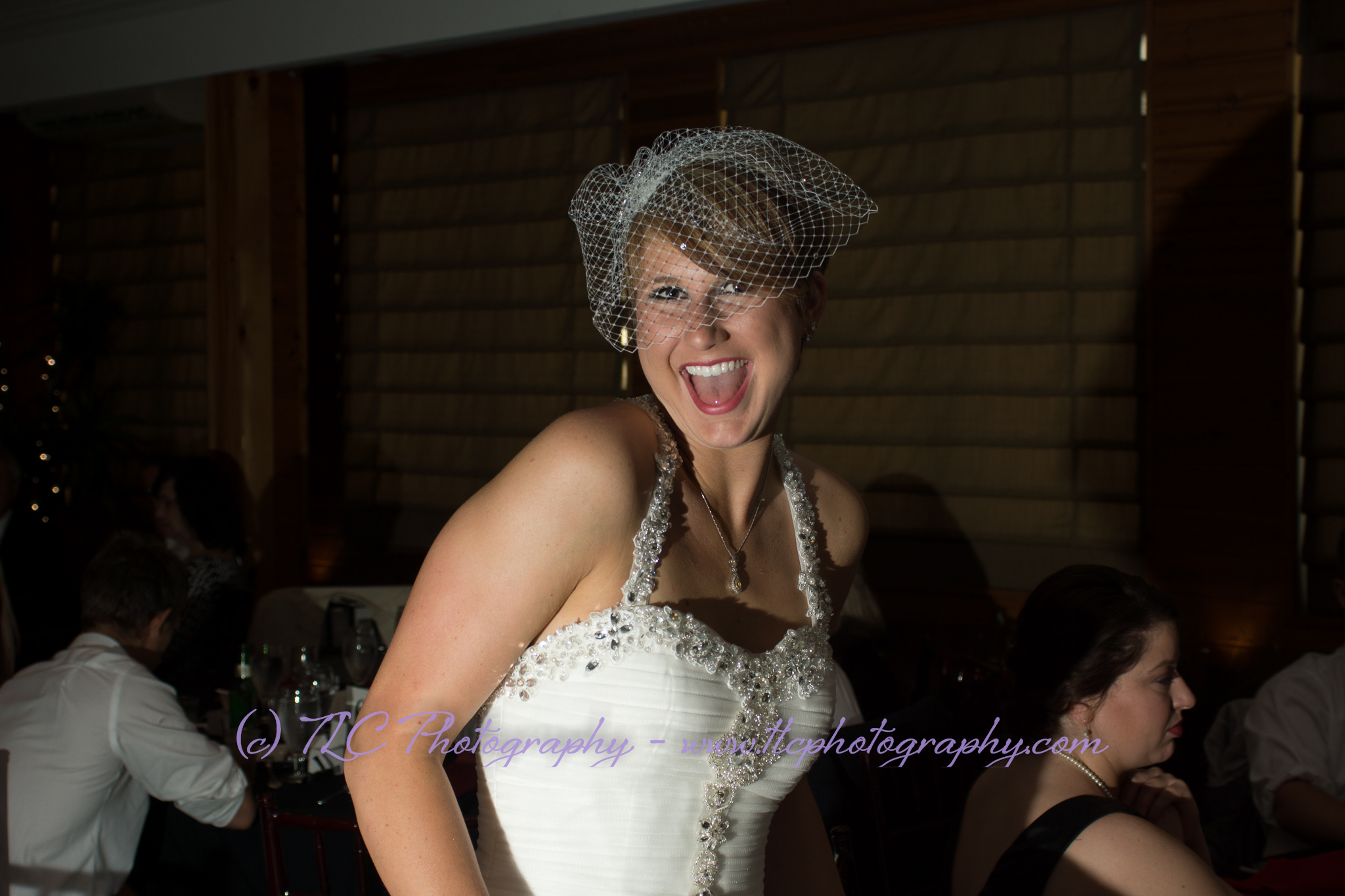 Beautiful Kayla at the wedding reception