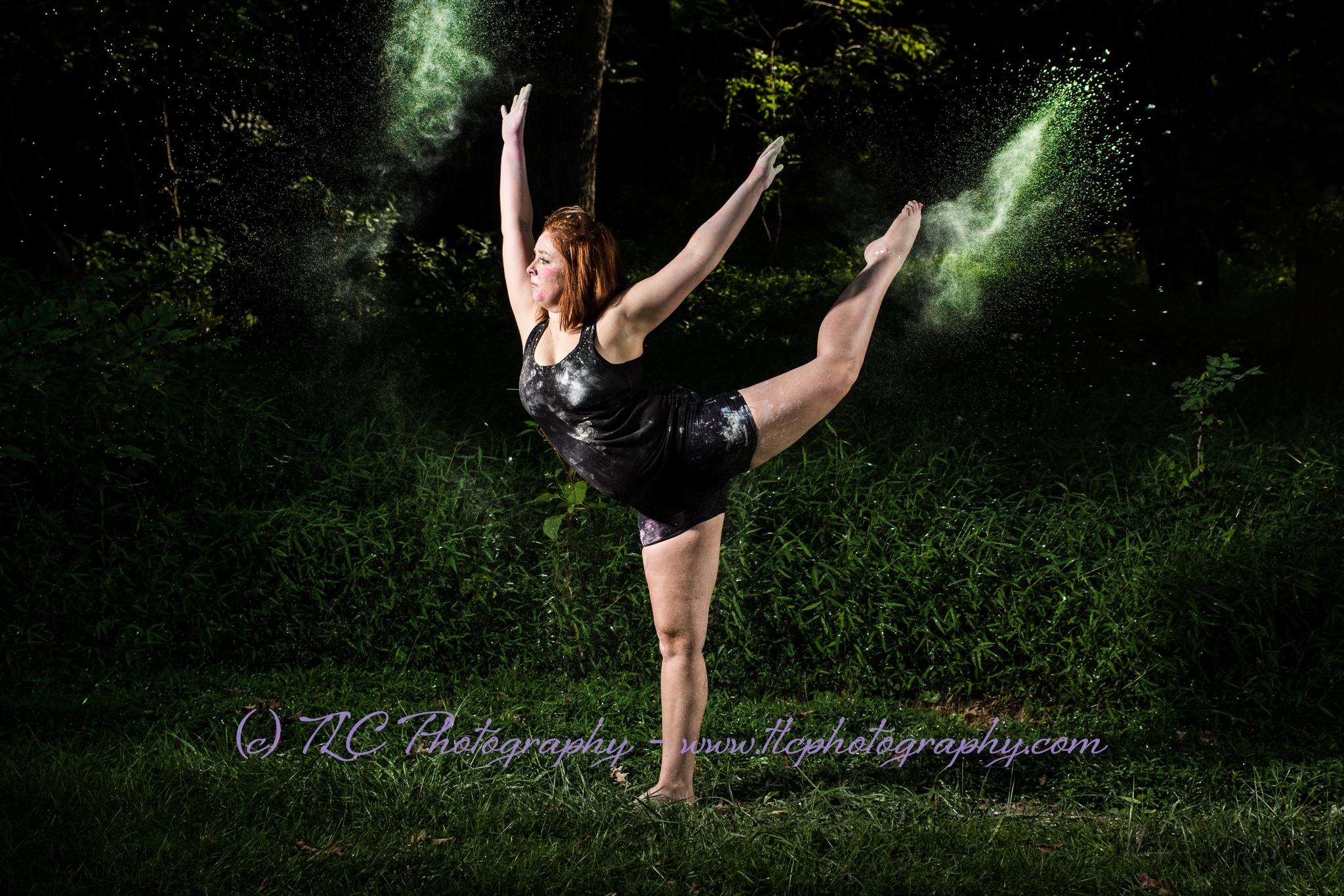 Dance photography with paint